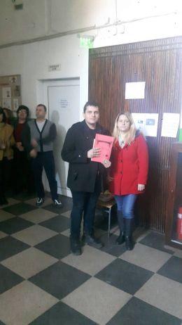 Награждаване III място - Ангел - ПГСС Дунавска земя - Ковачица, Лом